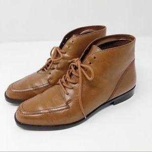 90s Vintage Nine West Leather Ankle Boots